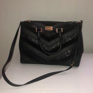 🔺Michael Kors Mixed Media chevron purse / bag